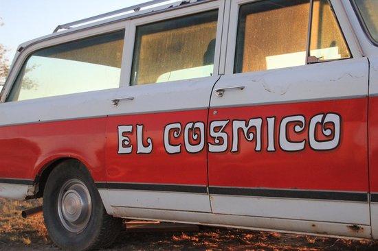 El Cosmico car out front