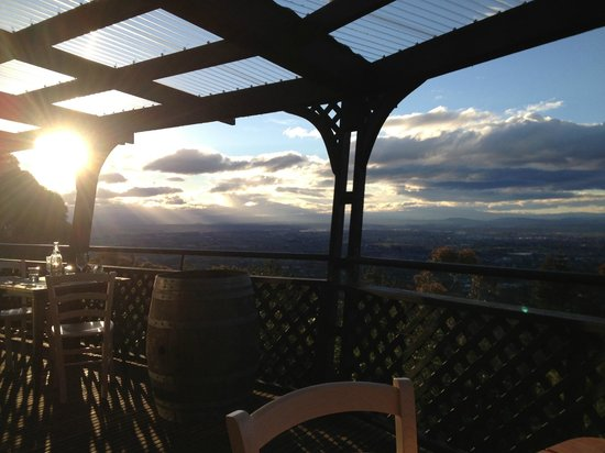 The Peak: View from the deck, sun setting