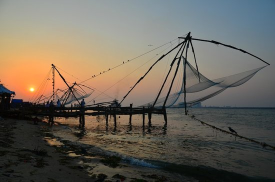 Fishing nets at the end of the day. (79427330)