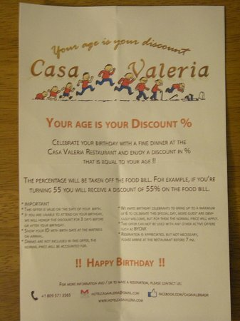 Casa Valeria Boutique Hotel: Your Age Is Your Discount %