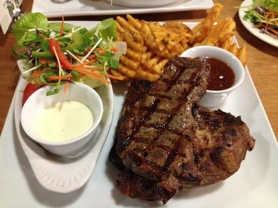 Rustlers Steakhouse and Grill : Steak and ribs....yummiest!
