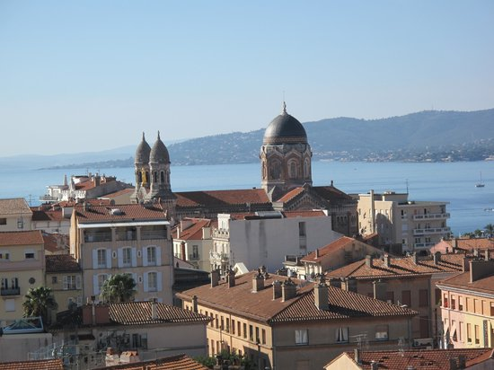 Hotel Continental: zicht over Saint Raphael