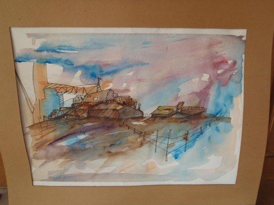 Hostel Alamo : watercolor of country scene