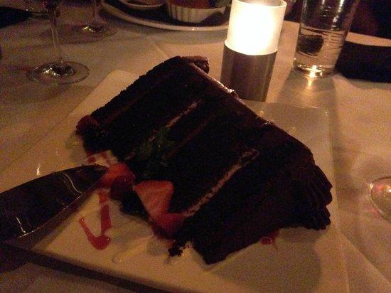 Level 2 Steakhouse: HUGE 7-layer chocolate cake