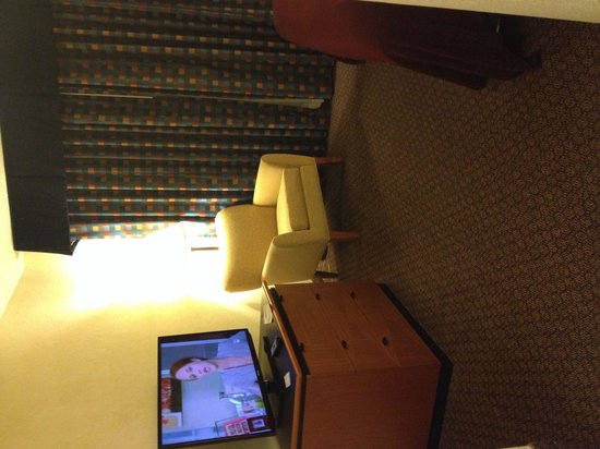 Richmond Airport Hotel: Comfortable chair by lamp.