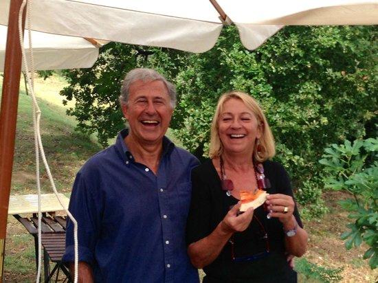 Agriturismo I Gergoni: Carlo & Paola, Owners