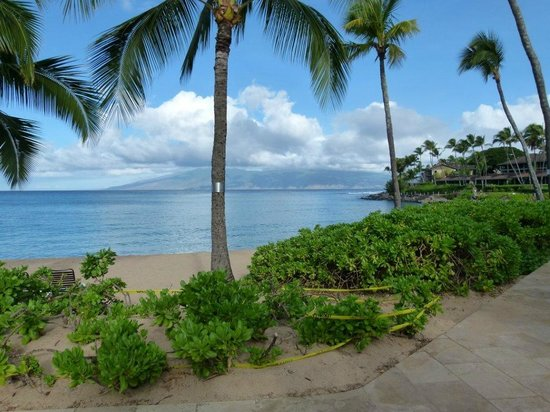 The Mauian Hotel on Napili Beach : Beach view