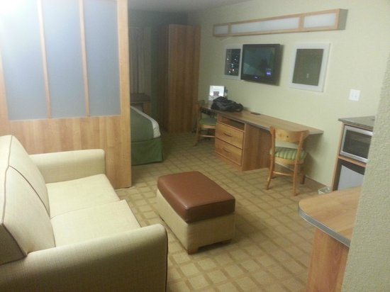 Microtel Inn & Suites by Wyndham Saraland/North Mobile: Sitting Area/Kitchenette
