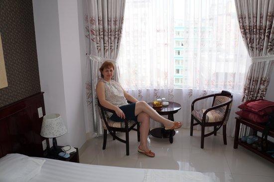 Victorian Nha Trang Hotel : Номер Де люкс с двуспальной кроватью