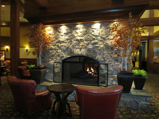 Hershey Lodge: Over sized Fireplace