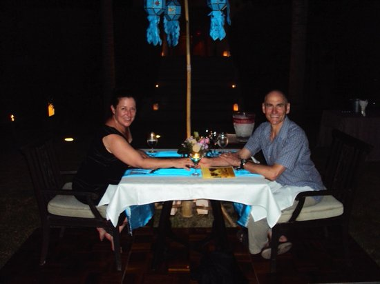 Siripanna Villa Resort & Spa: private romantic poolside dining
