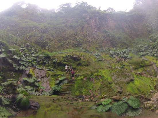 Catarata Del Toro Adventures: looking back away from the waterfall, still an epic view.