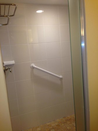 Hilton Melbourne Beach Oceanfront: shower without the shower door