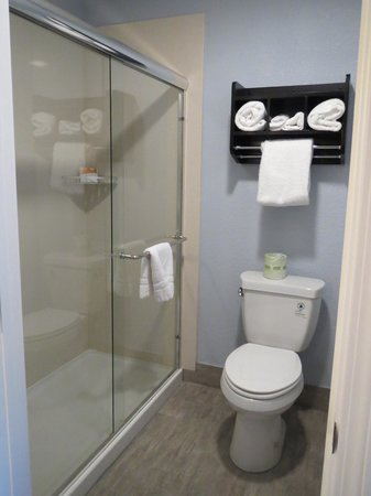 La Quinta Inn & Suites San Jose Airport : Bright bathroom