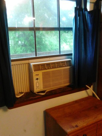 Window air conditioning units installed in every bedroom (central ...