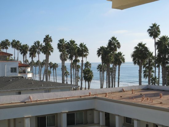 San Clemente Cove Resort Condominiums: View from one side of balcony