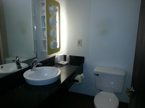 Motel 6 Pittsburgh Airport: Washroom upon arrival