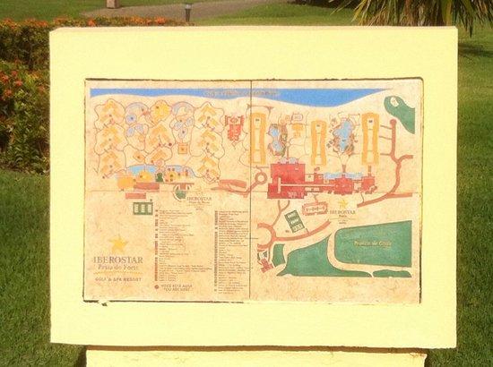 Map Of The Hotel Picture Of Iberostar Praia Do Forte Praia Do - Praia map