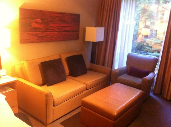 The Westin Resort & Spa, Whistler: Deluxe Studio Suite - Living area