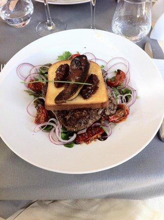 Radiana Hotel La Lechere : hamburger foie gras