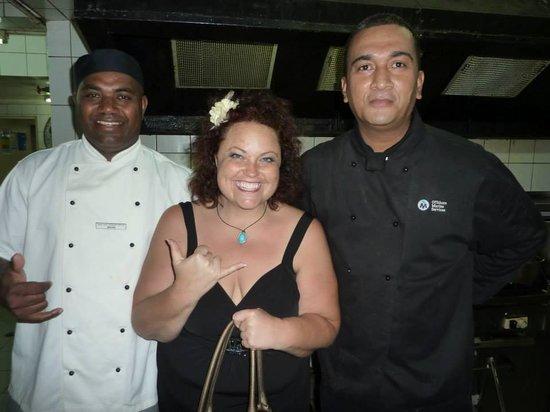 Nadi Bay Resort Hotel : The Amazing chefs...Brian me and John