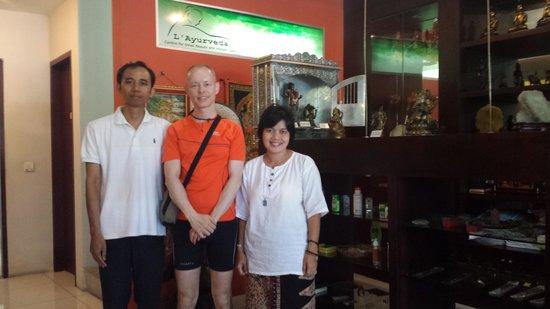 Al-Isha: Me with Dewi and Wayan