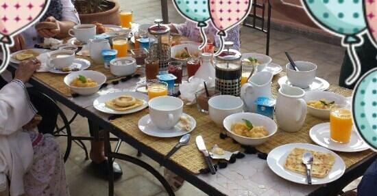 Riad Danka: petit déjeuner très copieux