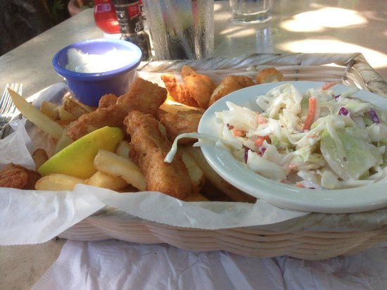 Fish and chips picture of red fish blue fish key west for Red fish blue fish key west
