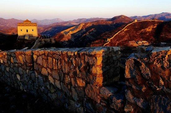 Pingding County, China: stone great wall