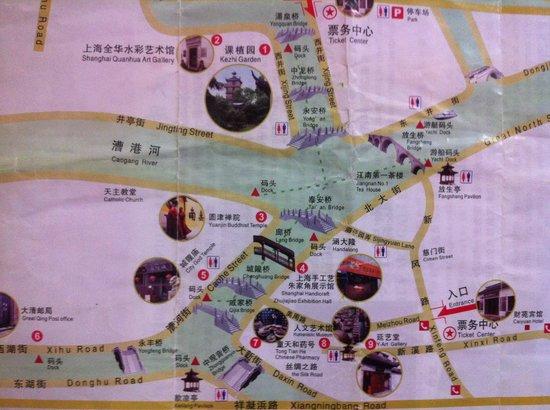 Caotang Hostel: Map of Zhujiajiao Water Village