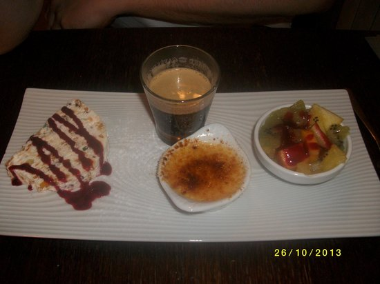 Le Grand Banc : Café gourmand