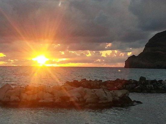 Park Hotel & Terme Romantica: Il tramonto nel giorno dell'arrivo al Romantica