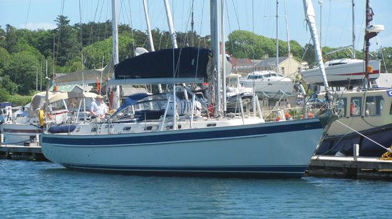 Carbery Sailing: Merlin alongside Lawrence Cove marina