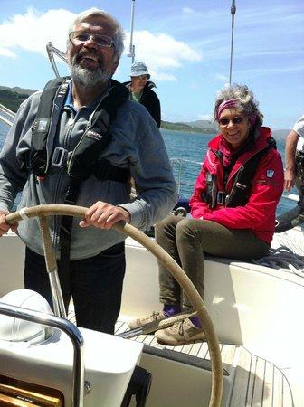Carbery Sailing: Enjoying the day sail.