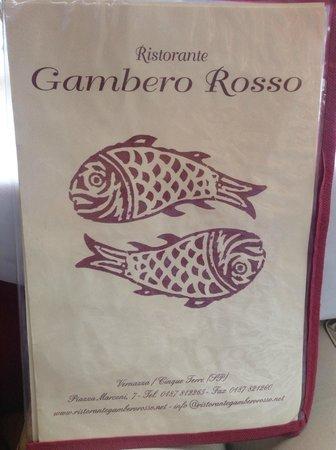 Ristorante Il Gambero Rosso: The Menu