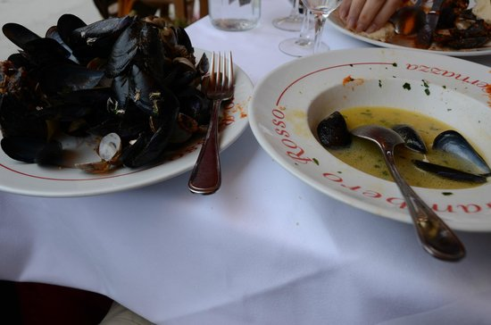 Ristorante Il Gambero Rosso: Our lunch - fabulous mussels