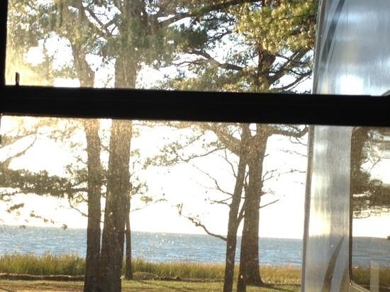 Cherrystone Family Camping Resort: view from inside our trailer