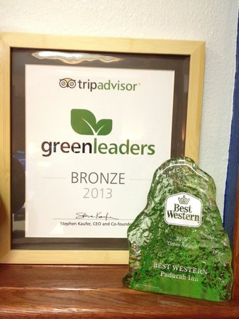 BEST WESTERN Paducah Inn: Green Award from Best Western and Tripadvisor