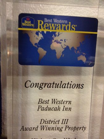 BEST WESTERN Paducah Inn: Award Winning Property