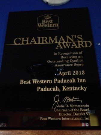 BEST WESTERN Paducah Inn: Best Western Chairman's Award