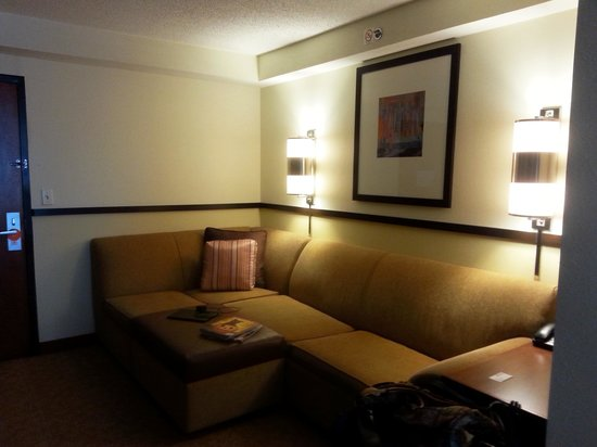 Hyatt Place Greenville: spacious and clean living area