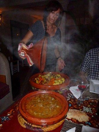 Riad Dar Nafoura : Repas du soir fait par Monique