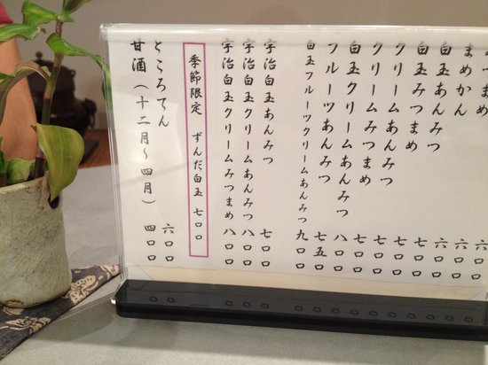 Sabokirara: Menu, all in Japanese