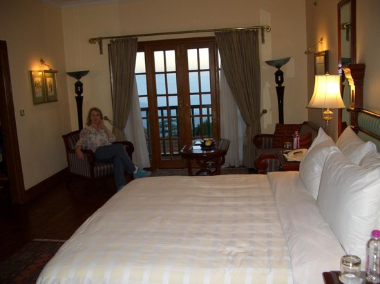 The Oberoi Cecil, Shimla: relaxing in our lovely room