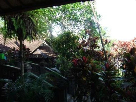Guci Guesthouses: The lavish garden - which is full of temples