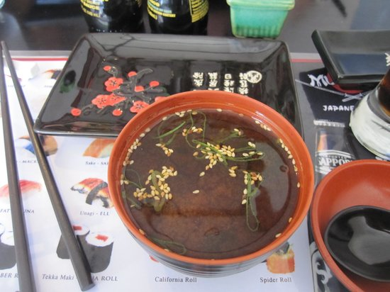 Musashi Japanese Restaurant : Miso soup