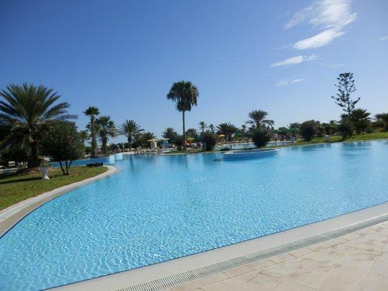 Djerba Plaza Hotel & Spa : Une partie de la piscine