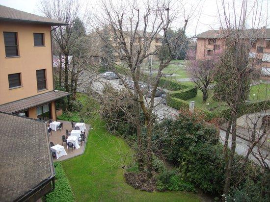 Brianteo Hotel & Restaurant: Vista da janela do hotel.