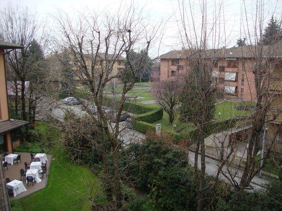 Brianteo Hotel & Restaurant: Vista da janela.