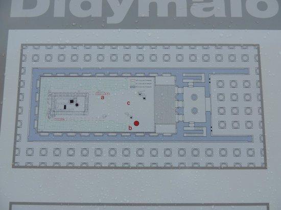 Didyma (Didim): Diagram of the Central Temple